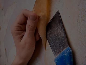 Remoção de papel de parede
