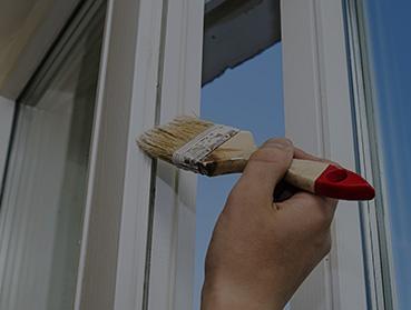 Pintura de portas e janelas de madeira