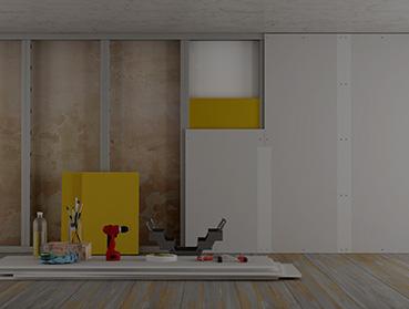 Execução de parede em Drywall, Blokit ou Plaquetas