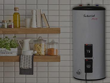 Instalación básica de calentador de agua eléctrico