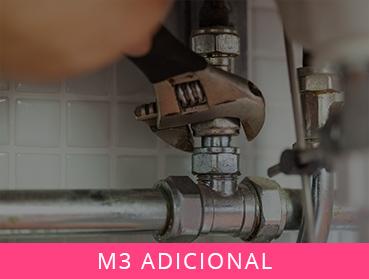 m3 adicional